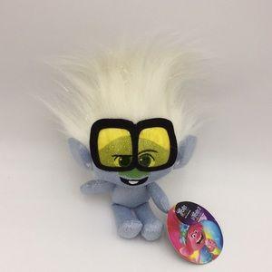 Trolls World Tour Plush Stuffed Doll Blue +Glasses